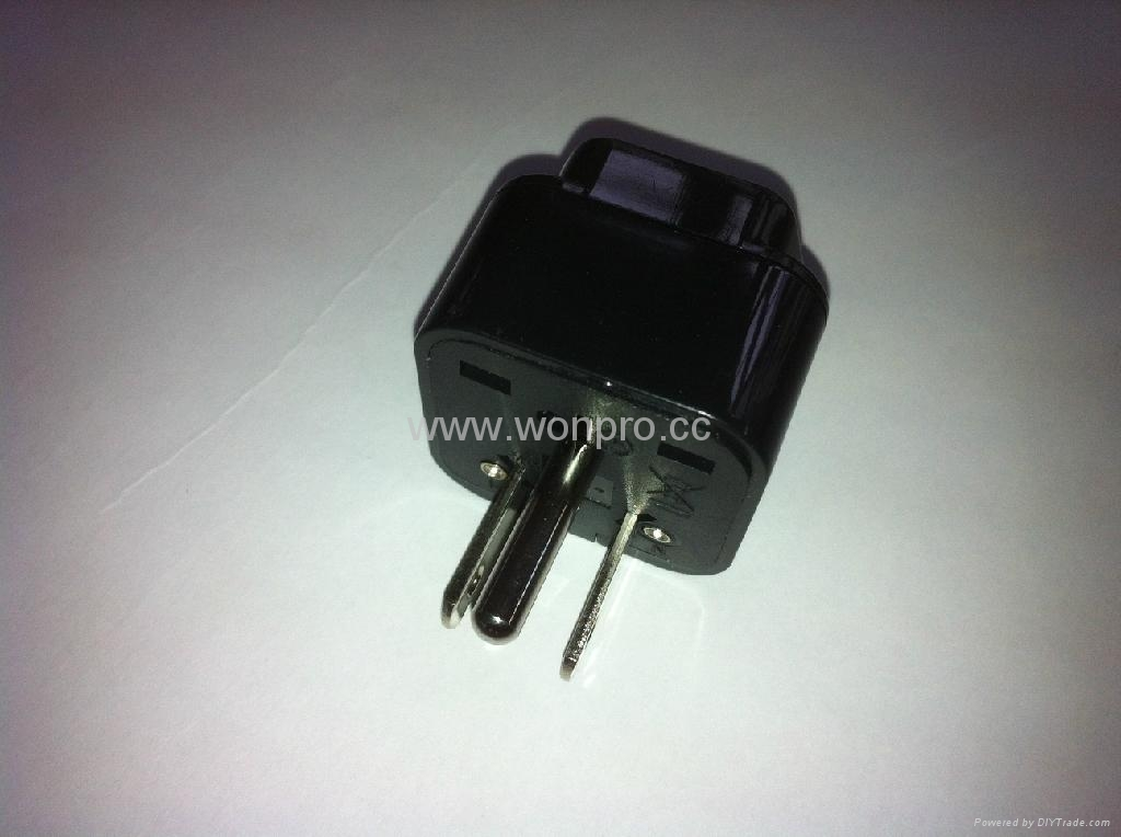 日美式插头转英标插座转换器(WA7-5-BK) 2