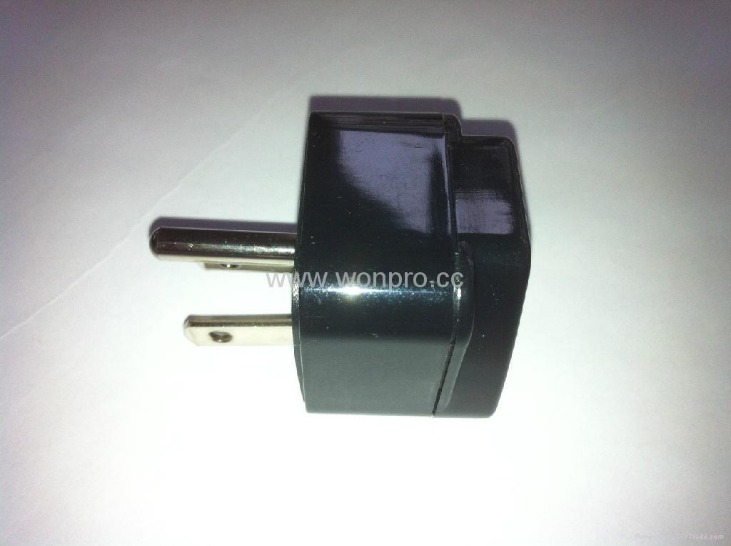 日美式插头转英标插座转换器(WA7-5-BK) 3