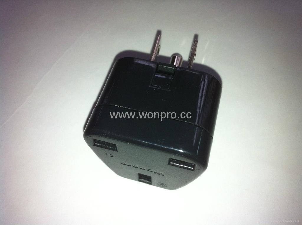 Japan US Ungrounded Plug Adapter(WA7-5-BK) 5