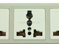 防雷型三位万用安全插座带夜光指示灯转换器(排插)