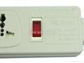 防雷型5位万用插座带保护延长线组合(排插, 中间转换器)