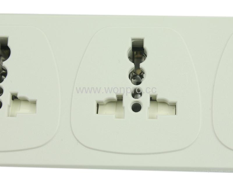 6 gang Universal socket extension power cord 3