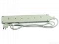 防雷型6位万用插座带保护延长线组合(排插, 中间转换器)