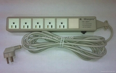 5 gang  US socket  extension with indicator 4M power cord