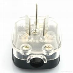 国标二极带接地自配线16A空调插头黑色(WSP-16A-BK