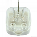 中国3C国标GB二极带接地自配线16A空调大插头白色(WSP-16A-W)