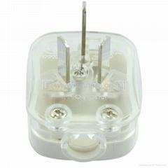 国标二极带接地自配线16A空调插头白色(WSP-16A-W)