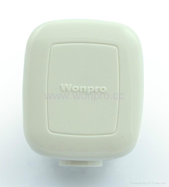 中国3C国标GB二极带接地自配线10A插头白色(WSP-16-W) 2