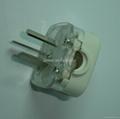 中国3C国标GB二极带接地自配线10A插头白色(WSP-16-W) 3