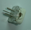 China 3C GB 2 pole Grounded Rewiring Plug 10A in White(WSP-16-W) 3