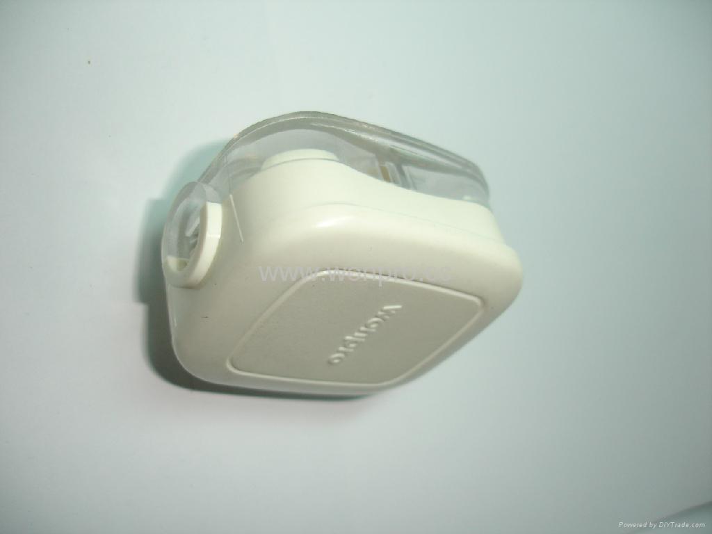 中国3C国标GB二极带接地自配线10A插头白色(WSP-16-W) 5