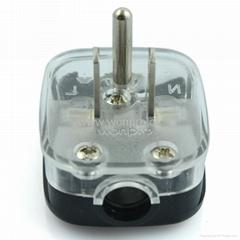 日本、美国二极带接地自配线插头15A125V黑色(WSP-5