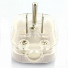 日本、美國、臺灣二極帶接地自配線插頭15A125V白色(WS