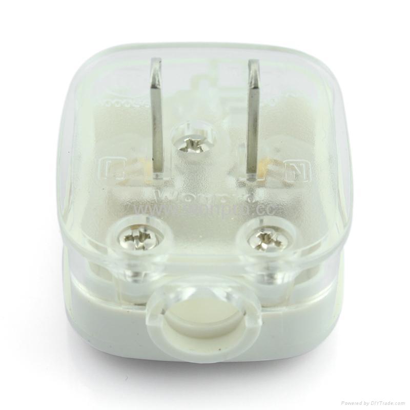 中国3C国标GB二极无接地自配线插头10A250V白色(WSP-6-W) 1