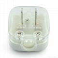 中國3C國標GB二極無接地自配線插頭10A250V白色(WSP-6-W) 1