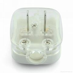 中國3C國標GB二極無接地自配線插頭10A250V白色(WSP-6-W)