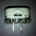 中国3C国标GB二极无接地自配线插头10A250V白色(WSP-6-W) 4