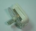 中国3C国标GB二极无接地自配线插头10A250V白色(WSP-6-W) 5