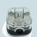国标二极自配线插头10A250V黑色(WSP-6-BK)