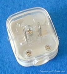 美标二极自配线插头15A125V白色(WSP-6-1W)