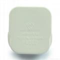 英标二极带接地插头带保险丝13A250V白色(WSP-7-W) 2