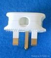 英标二极带接地插头带保险丝13A250V白色(WSP-7-W) 3