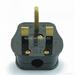 UK, Iraq  Grounded rewiring Plug with