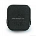 英标二极带接地插头带保险丝13A250V黑色(WSP-7-BK)