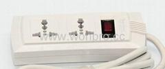防雷型2,3,4,5,6位萬用插座延長線組合(排插, 中間轉換器)