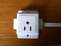 Convex Type1 gang US 3-pole Socket with