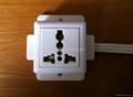 外露式一位万用三极插座带电源线(WF-7.1R4-DT116)