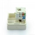 6类8芯网络插座RJ45(TE4NTS-2-W)