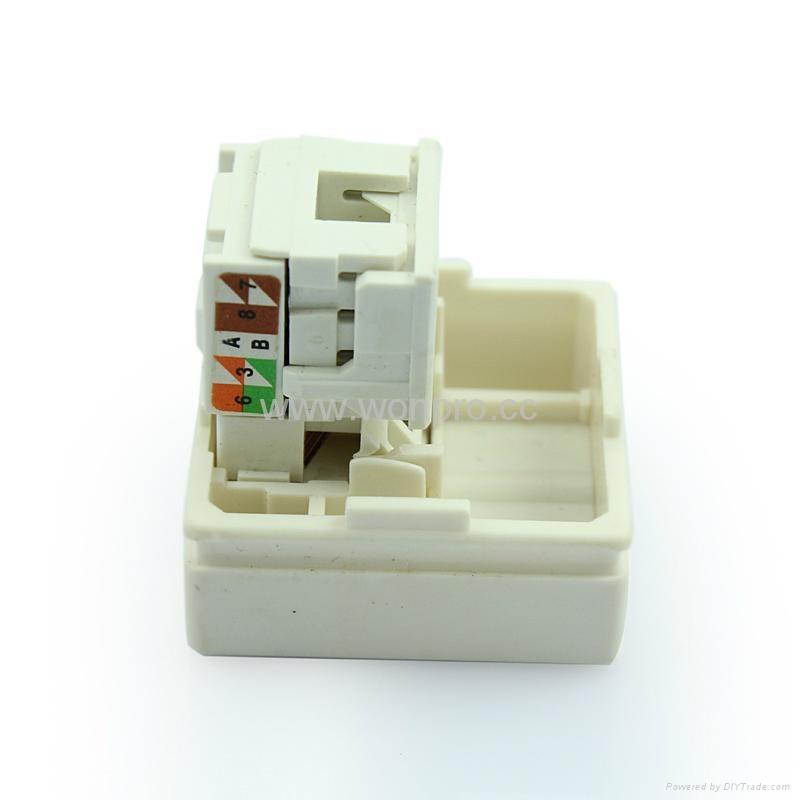 Cat6 8-pin network socket RJ45(TE4NTS-2-W) 4
