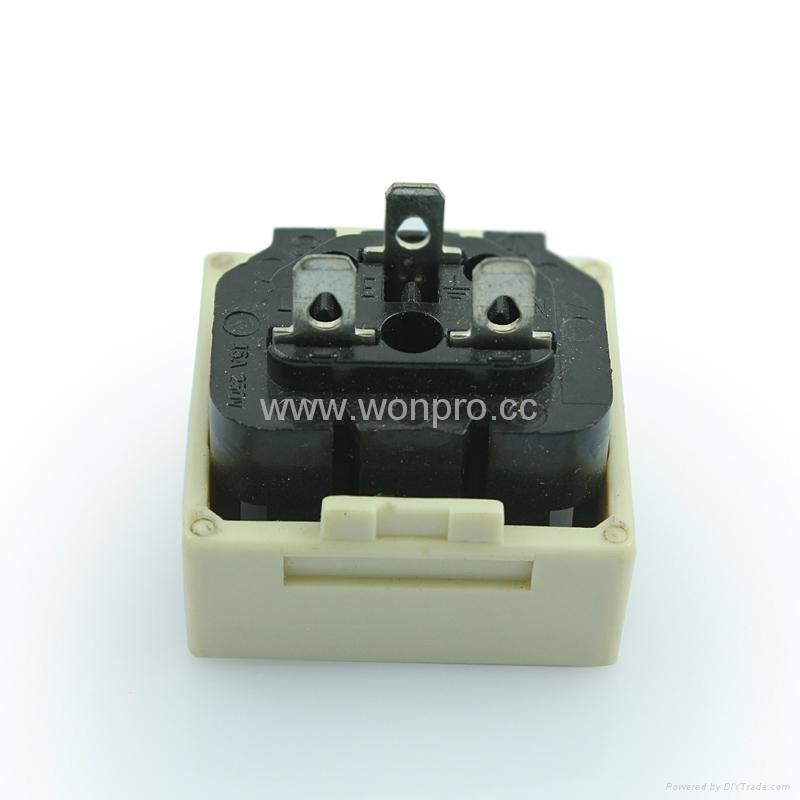 IEC female socket 2P+E C13(RIEC-W) 2