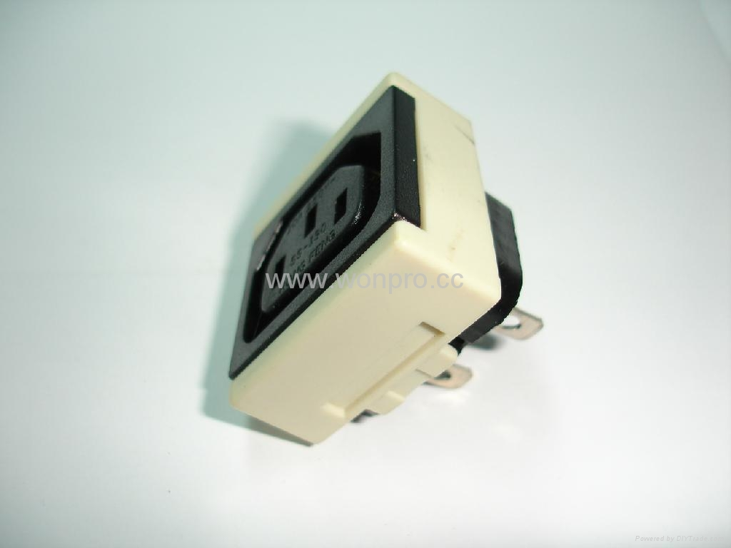 IEC female socket 2P+E C13(RIEC-W) 5