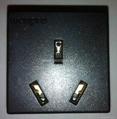 国标三极10A插座黑色(R16-BK)