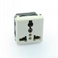 万用多用途插座模块白色2P+E