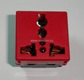 万用多用途插座模块红色2P+E(R4-R) 5