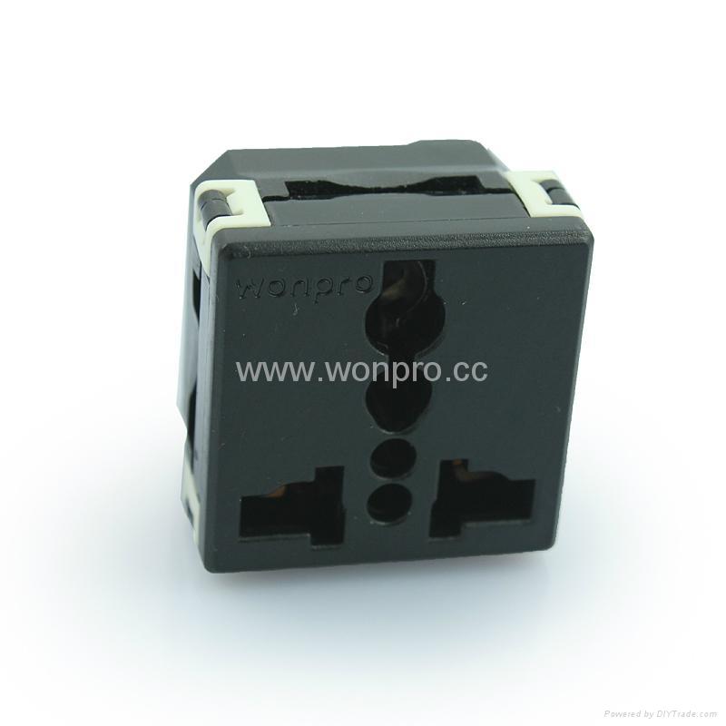 万用多用途插座模块黑色(R4-BK)