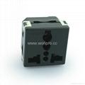 Universal receptacle module in black