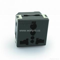 Universal receptacle module in black 2P+E(R4-BK)