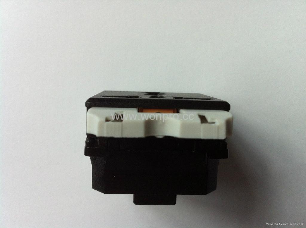 Universal receptacle module with safety shutter in black Orange shutter(R4S-BK) 4