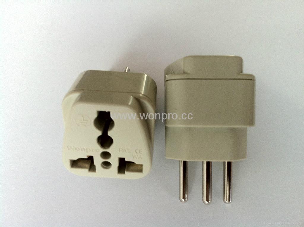 New Brazil Plug Adapter grounded Inlay(WA-11AN-W 1