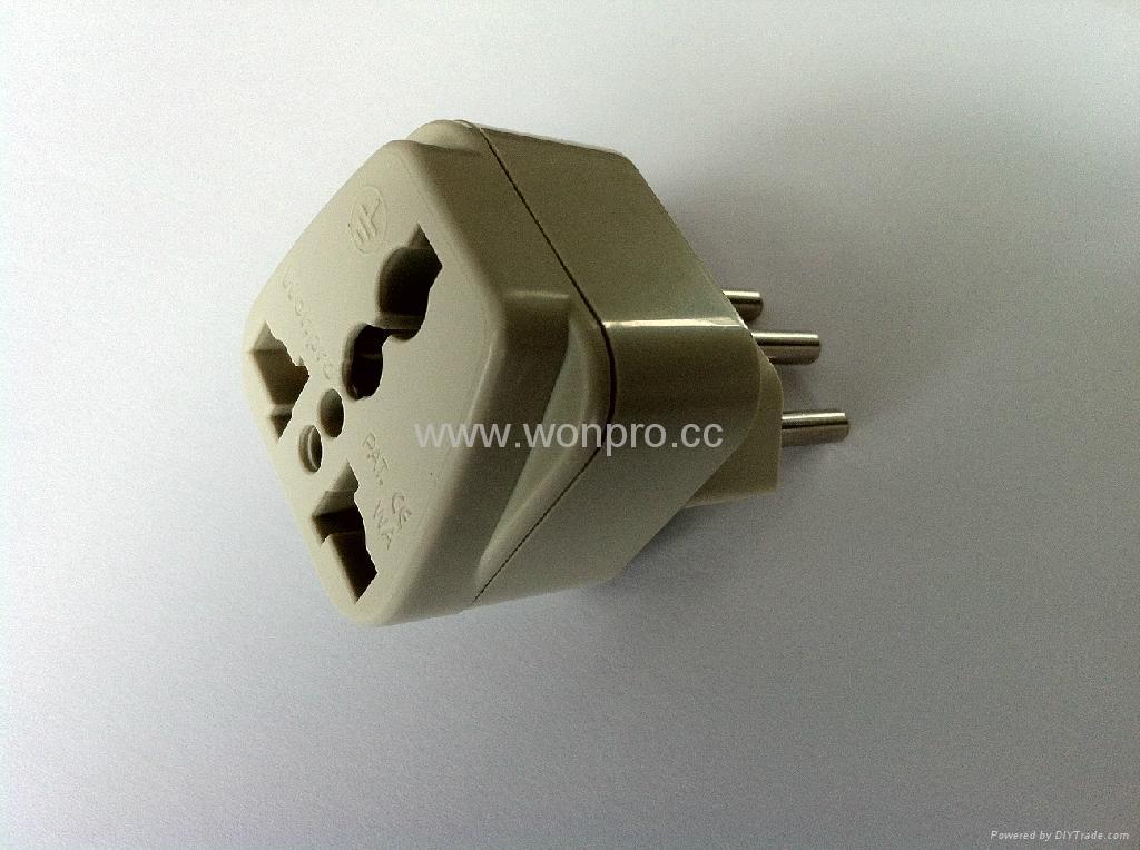 New Brazil Plug Adapter grounded Inlay(WA-11AN-W 2
