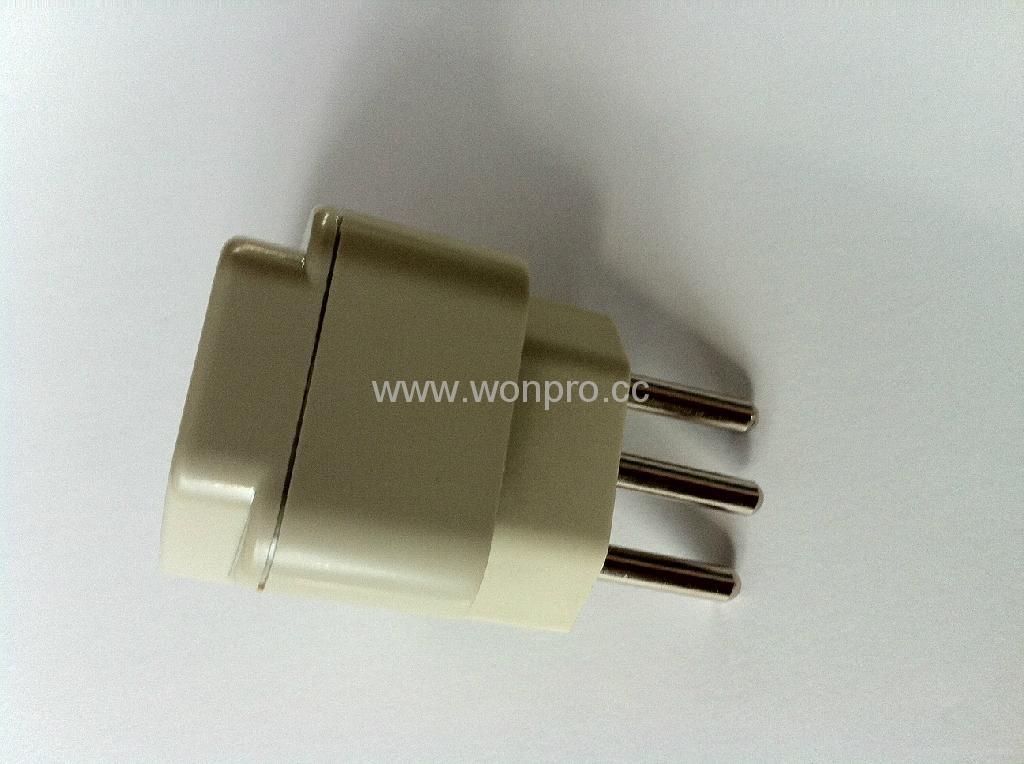 New Brazil Plug Adapter grounded Inlay(WA-11AN-W 3