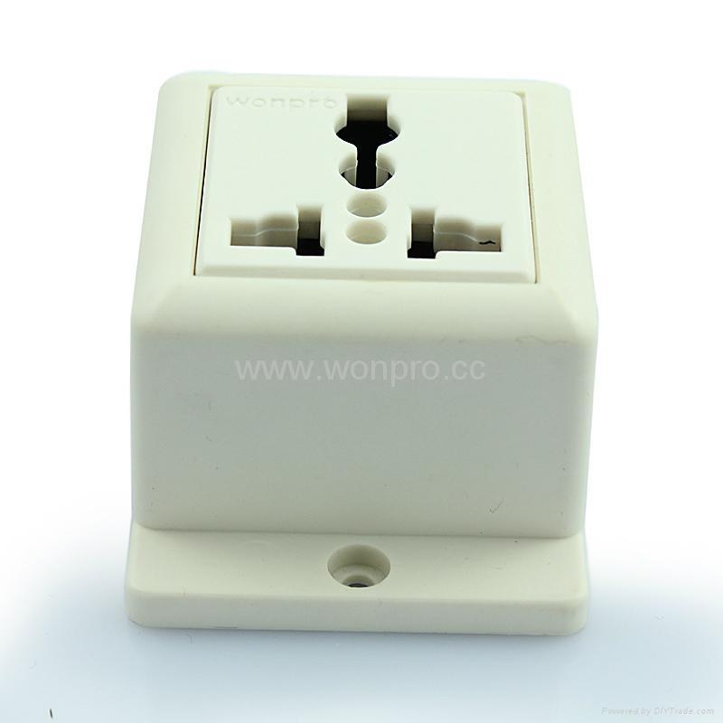 Convex Type 1 gang  Universal Socket w/screw (WF-7.R4T-W 16A) 2