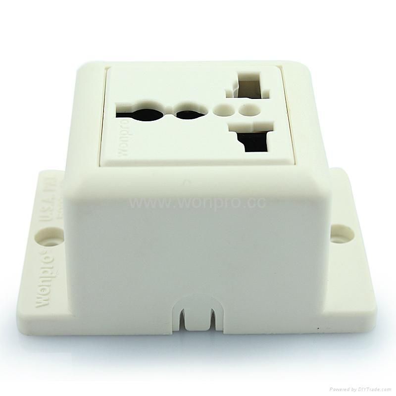 Convex Type 1 gang  Universal Socket w/screw (WF-7.R4T-W 16A) 3
