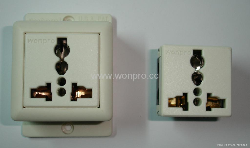 Convex Type 1 gang  Universal Socket w/screw (WF-7.R4T-W 16A) 4
