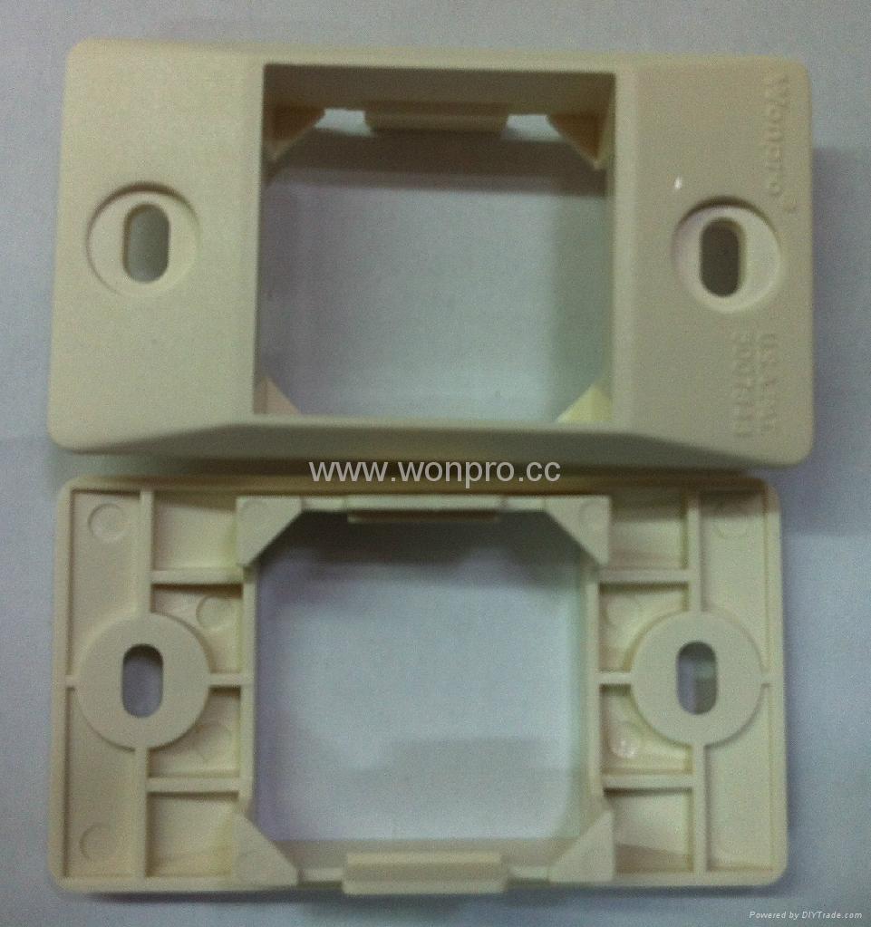 埋入式工业用5类超5类6类8芯网络插座(WF-9.1TE4NTS-W) 3