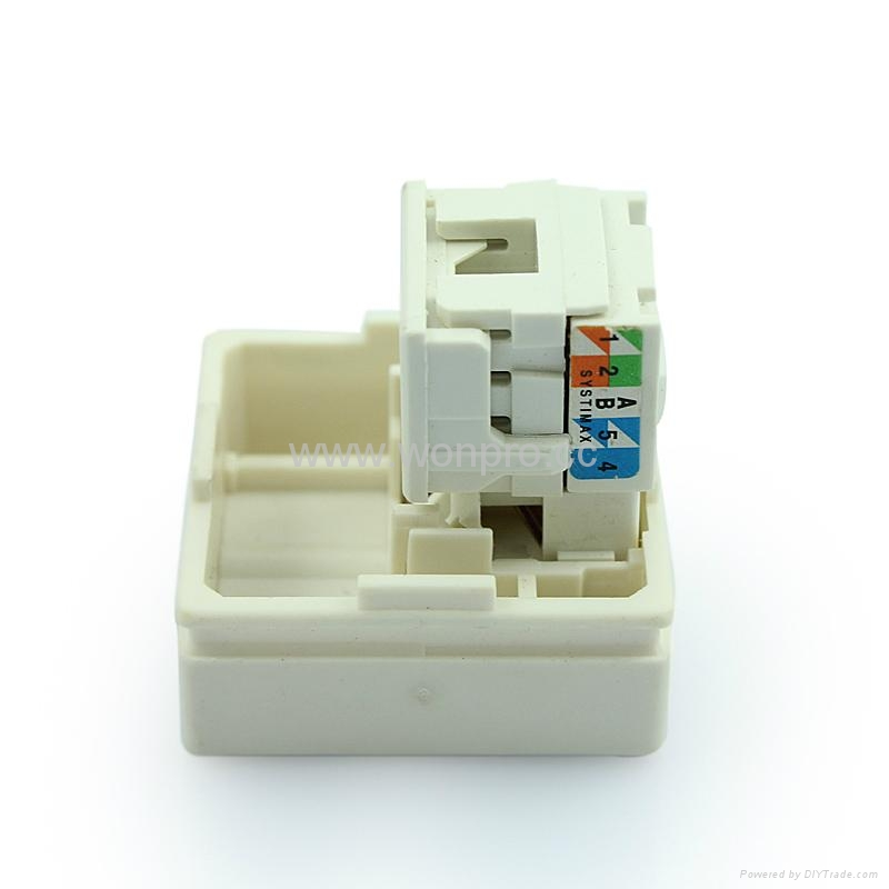 埋入式工业用5类超5类6类8芯网络插座(WF-9.1TE4NTS-W) 4